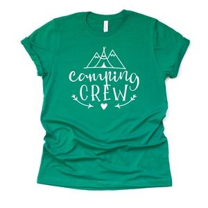 B2G1 Camping Crew Unisex T-shirt Plus Size